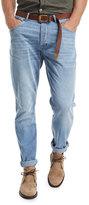 Brunello Cucinelli Leisure-Fit Straight-Leg Denim Jeans, Indigo