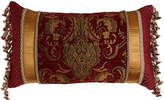 "Austin Horn Classics Scarlet Pieced Pillow with Onion Fringe at Sides, 13"" x 24"""