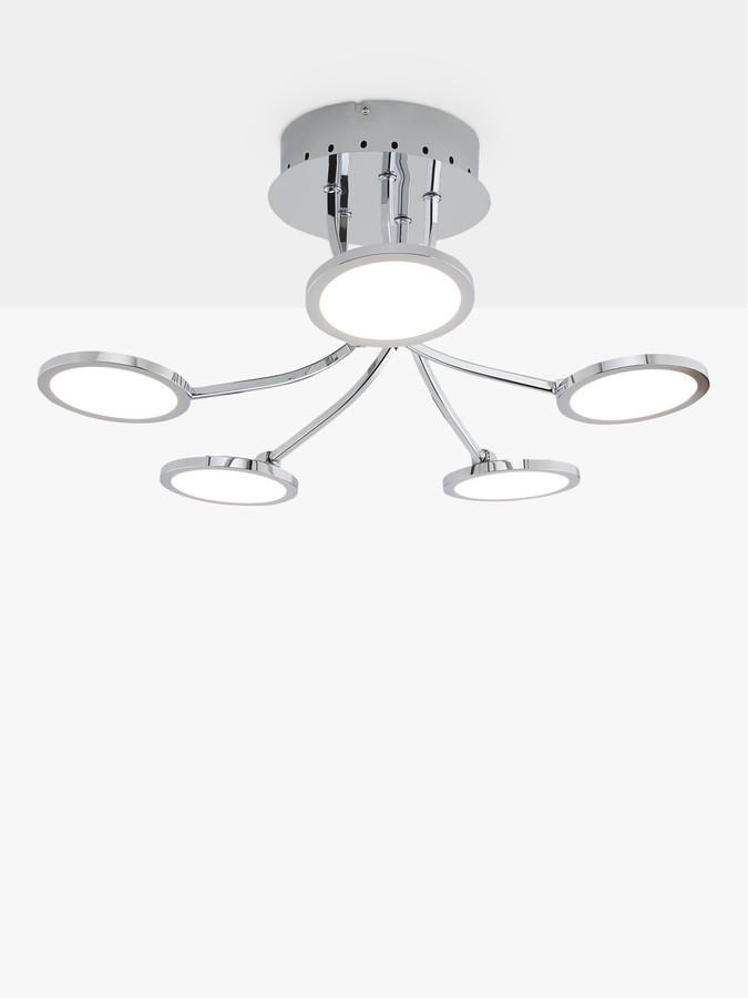 John Lewis & Partners Malmo LED Semi Flush Ceiling Light, Chrome