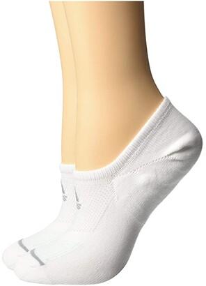 adidas Superlite Prime Mesh III Super No Show Socks 2-Pack (White/Clear Grey/Clear Mint/Light Onix) Women's No Show Socks Shoes