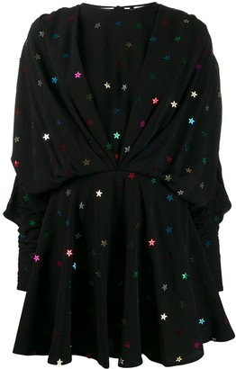 ATTICO Star applique mini dress
