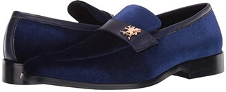 Stacy Adams Bellino Velour Slip-On (Black) Men's Shoes