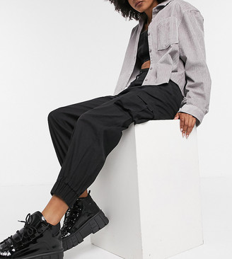 Collusion cargo pants in black