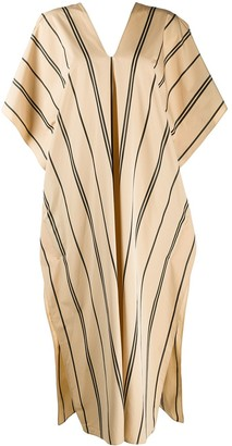 Jil Sander striped V-neck cotton dress