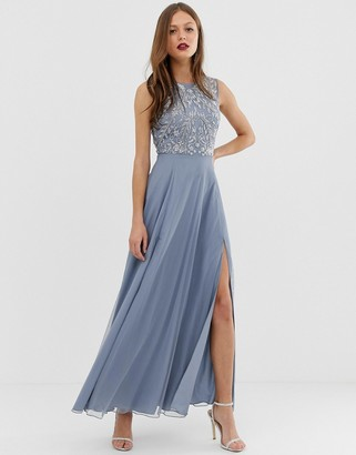 Asos DESIGN maxi dress with sleeveless embellished bodice