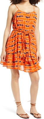 WAYF Dolly Belted Swing Sundress