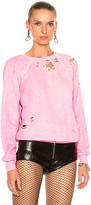 Unravel Destroyed Terry Raglan Crewneck Sweatshirt