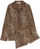 Equipment Lillian Leopard-print Washed-silk Pajama Set - Leopard print