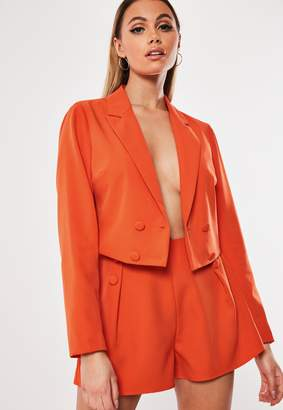 Missguided Coral Co Ord Pleat Detail Shorts