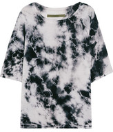 Enza Costa Printed Silk-Blend Jersey Top