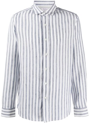 Brunello Cucinelli Striped Regular-Fit Shirt