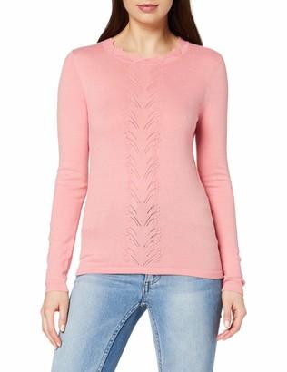 Dorothy Perkins Women's Dark Rose Plain Pointelle Jumper Pullover Sweater 10