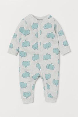 H&M Cotton Jersey Pajamas - Gray