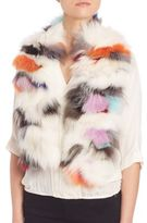 Pologeorgis Multicolor Fox Fur Scarf