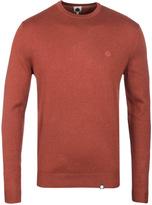 Pretty Green Mosley Rust Orange Crew Neck Sweater