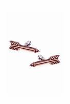 House Of Harlow Antiqued Arrow Stud Earrings in Rose Gold
