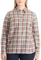 Chaps Plus Size Plaid Button-Down Shirt