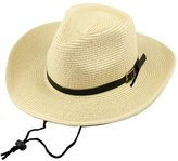 Generic Summer Beach Straw Sun Hat Kids Boys Cowboy Western Stetson Cap Child Wide Brim