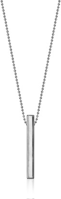 Alex Woo Little Elements Sterling Silver Bar Pendant Necklaces