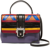 Paula Cademartori Faye paneled calf hair and leather shoulder bag
