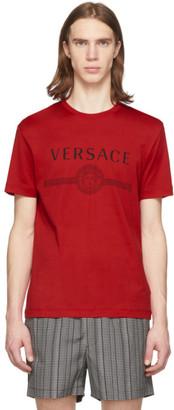 Versace Red Medusa Logo T-Shirt