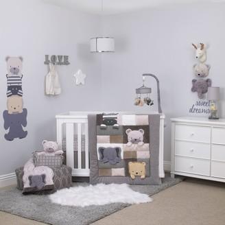 NoJo Play Day Pals 4 Piece Nursery Crib Bedding Set
