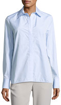 Thakoon Lace-Insert Shirt, Blue