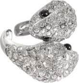 Roberto Cavalli Iconic Snake Crystals Ring