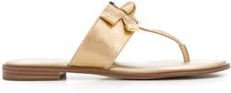 MICHAEL Michael Kors T-Bar Bow Detail Sandals