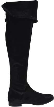 Alberta Ferretti Rear Zip Over-the-knee Boots
