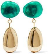 Dinosaur Designs Short Mineral Gold-filled Resin Earrings - one size