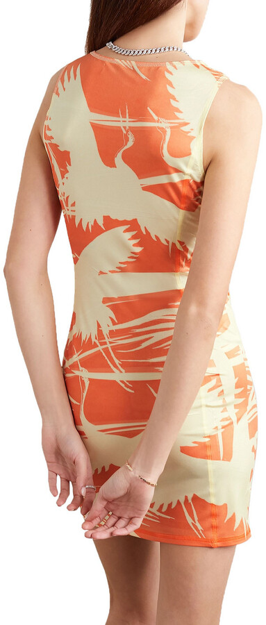 Thumbnail for your product : IOANNES Carrie Printed Stretch-jersey Mini Dress