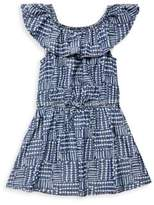 Splendid Toddler's, Little Girl's & Girl's Bow-Accented Line and Dot-Print Dress