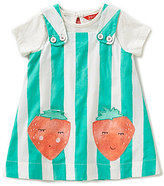 Joules Baby/Little Girls 12 Months-3T Pippin Striped Strawberry Pinafore Dress