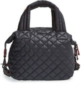 M Z Wallace 'Small Sutton' Quilted Oxford Nylon Crossbody Bag - Black