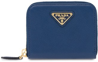 Prada Logo Zipped Wallet