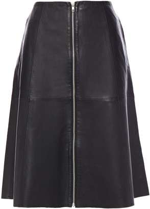 Muu Baa Muubaa Lismore Flared Leather Skirt