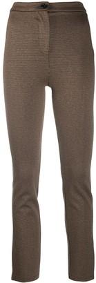 Patrizia Pepe Houndstooth Straight-Leg Trousers