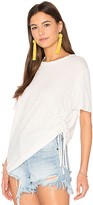 MinkPink Fortress Drawstring Tee in White. - size XS (also in )