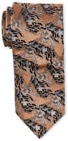Lanvin Contrast Pattern Silk Tie