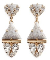 Anton Heunis Swarovski crystal vintage stone pendant earrings