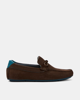 Ted Baker MORTMR Leather lace detail loafers