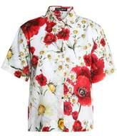 Dolce & Gabbana Floral-Print Cotton-Voile Shirt