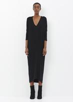 Zero Maria Cornejo black long sleeve koya dress