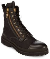 Versace Cap Toe Leather Boots