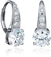 Crislu 3.00 cttw Cascade of Brilliant Cut Cubic Zirconia Pave Drop Earrings