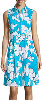Studio 1 Sleeveless Floral Shirt Dress