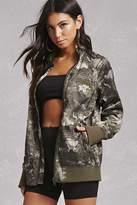 Forever 21 Members Only Satin Camo Jacket