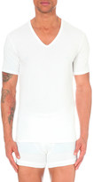 Calvin Klein Pack of two v-neck stretch-cotton t-shirts