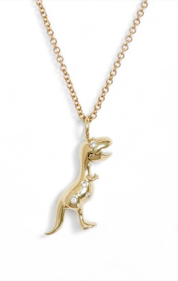 Daniela Villegas x Jurassic Park 25th Anniversary Mini Baby T-Rex Diamond Pendant Necklace